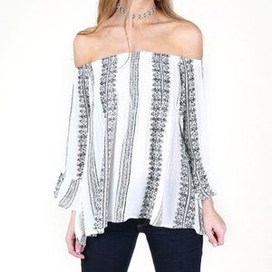 Altar'd State Off Shoulder Batwing Blouse sz Small